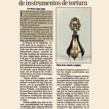 Visitano in 40.000 la mostra di strumenti di tortura