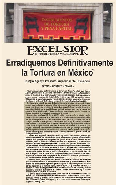 Sopprimiamo definitivamente la tortura in Messico