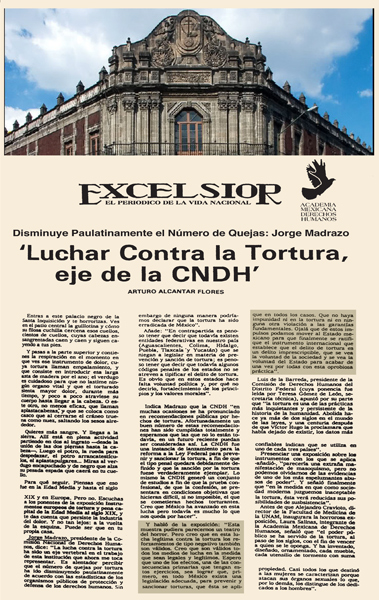 Fighting against torture, the principle of the CNDH
