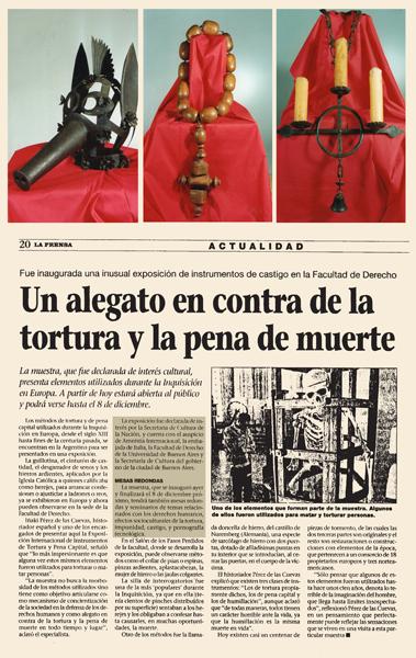 Una denuncia contro la tortura e la pena di morte